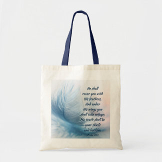 Inspirational Uplifting Psalm 91:4 Under His Wings Tote Bag