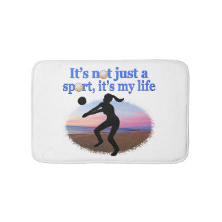 INSPIRATIONAL VOLLEYBALL IS MY LIFE DESIGN BATH MAT
