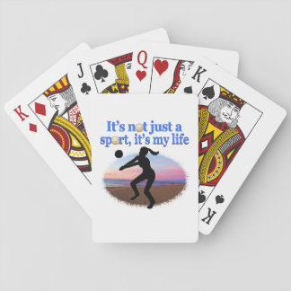 INSPIRATIONAL VOLLEYBALL IS MY LIFE DESIGN PLAYING CARDS