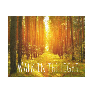 Inspirational Walk in the Light Bible Verse Canvas Canvas Prints