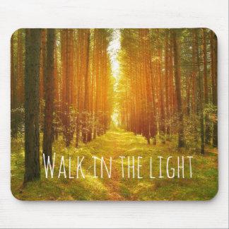 Inspirational Walk in the Light Bible Verse Mousepad