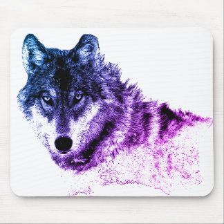 Inspirational Wolf Eyes Mouse Pad