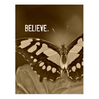Inspirational Word: Believe with Butterfly Postcard