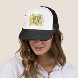 Inspirational Word Heal Art Black Hat