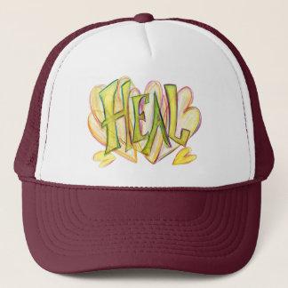 Inspirational Word Heal Art Hat