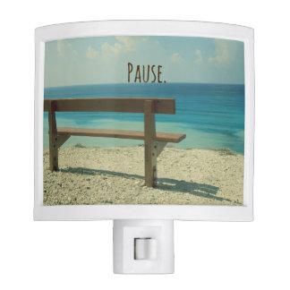 Inspirational Word: Pause Beach Theme Night Lites