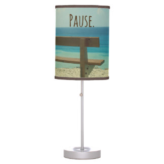 Inspirational Word: Pause Beach Theme Table Lamp