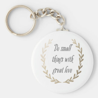 Inspirational Words Basic Round Button Keychain