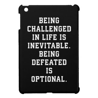 Inspirational Words - Challenge vs Defeat Cover For The iPad Mini