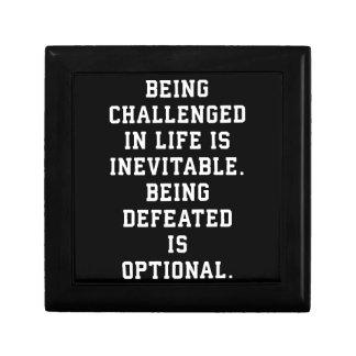 Inspirational Words - Challenge vs Defeat Gift Box