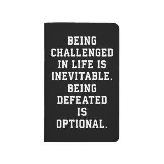 Inspirational Words - Challenge vs Defeat Journal