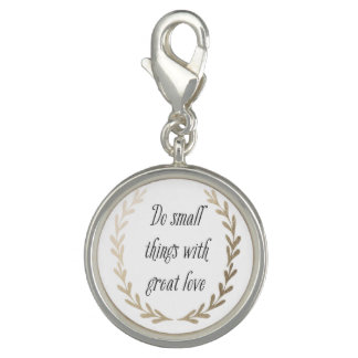 Inspirational Words Charm