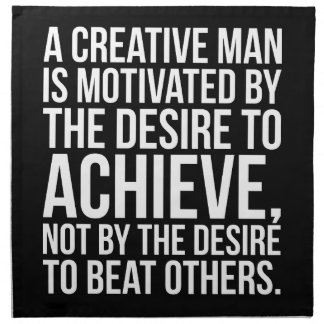 Inspirational Words - Desire To Achieve Napkin