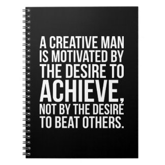 Inspirational Words - Desire To Achieve Notebooks