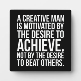 Inspirational Words - Desire To Achieve Plaque