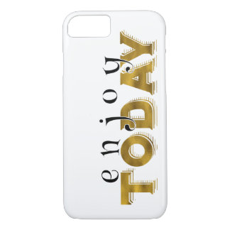 Inspirational Words Gold Lettering iPhone 7 Case