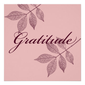Inspirational Words Gratitude Poster