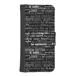 Inspirational Words iPhone SE/5/5s Wallet Case