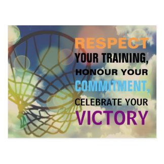 Inspirational Words Netball Sport Quote Postcard