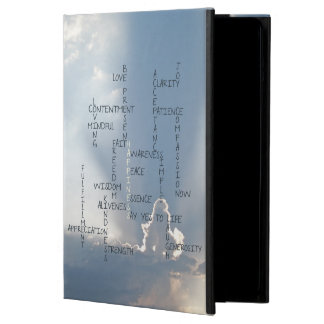 Inspirational Words to Live by for Happiness iPad Air Cover