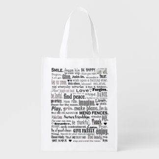 inspirational words tote