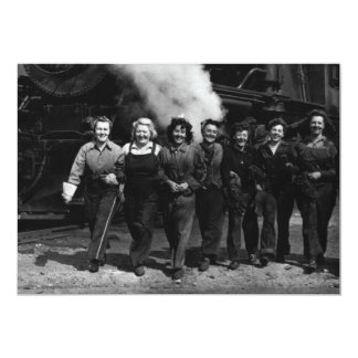 Inspirational World War I Women Railroad Workers Invite