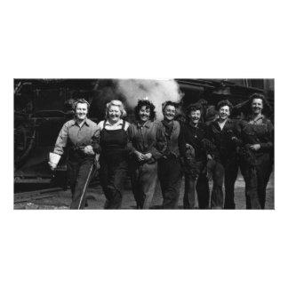Inspirational World War I Women Railroad Workers Photo Card Template