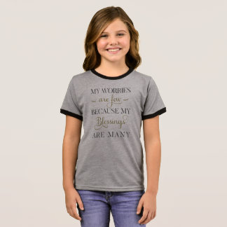 Inspirational Worries and Blessings | Ringer Shirt