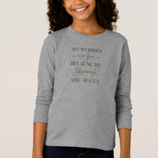 Inspirational Worries and Blessings | Sleeve Shirt