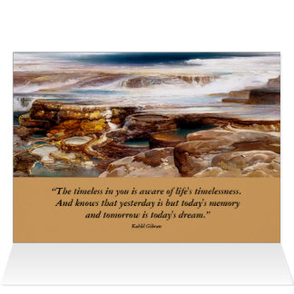 inspirational yellowstone landscape card
