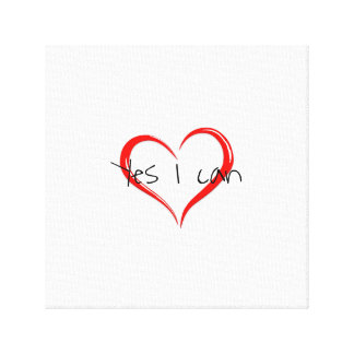 Inspirational 'yes I can' Canvas Print