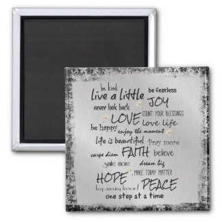 Inspire and Motivate Quote Affirmations Square Magnet