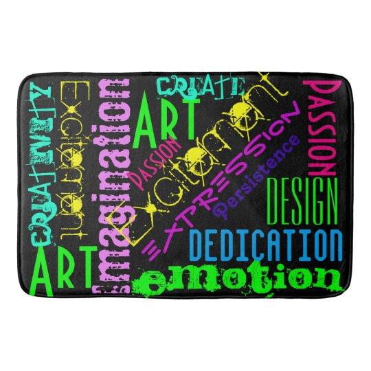 Inspire Bath Mat Artist Motivation