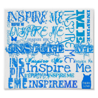 Inspire Blue Poster