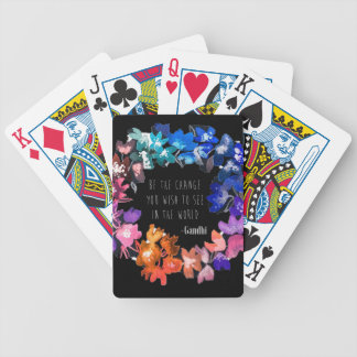 Inspire Change Bicycle Playing Cards