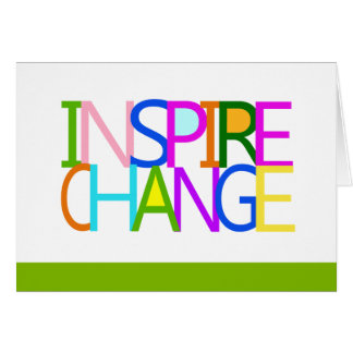 INSPIRE CHANGE Notecard