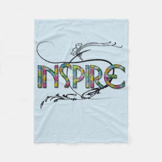 """Inspire"" Custom Fleece Blanket"