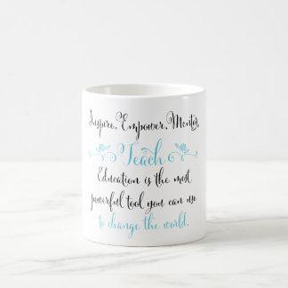 Inspire, Empower, Mentor, Teach mug
