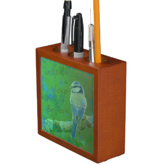 Inspire Love Believe Bird Desk Organizer