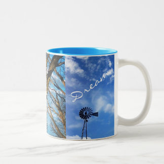 Inspire, Love , Dream Two-Tone Coffee Mug