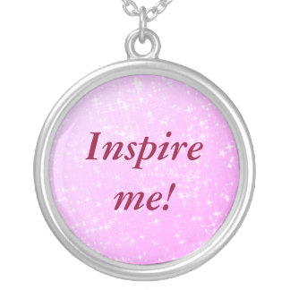 'Inspire me!' silver plated necklace