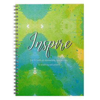 Inspire Motivational Design Spiral Notebook