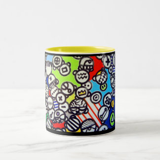 Inspire` par dubuffet Two-Tone coffee mug