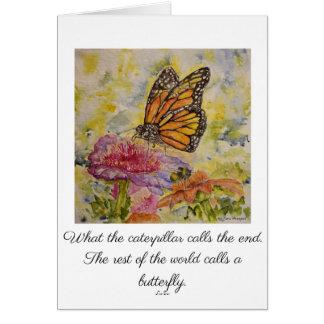Inspire Poem Monarch Watercolor Greeting Card