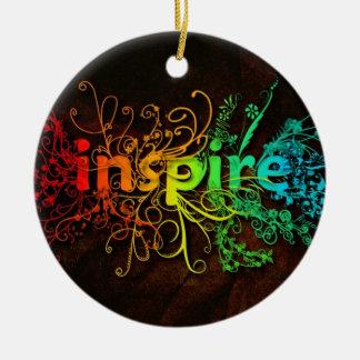 Inspire Round Ceramic Ornament