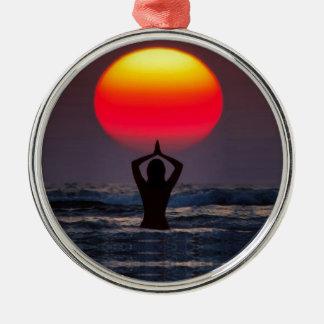 Inspire Silver-Colored Round Ornament