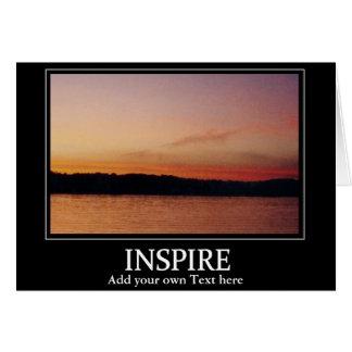 Inspire sunset card