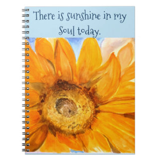 Inspire Sunshine Sunflower Watercolor Art Notebook