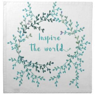 Inspire the world napkin