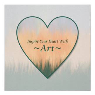 Inspire Your Heart With Art Abstract Summer Sunset Poster